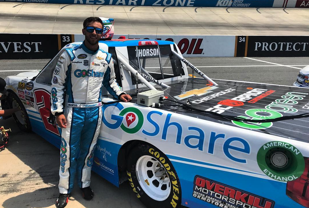 GoShare NASCAR Truck with driver Tanner Thorson