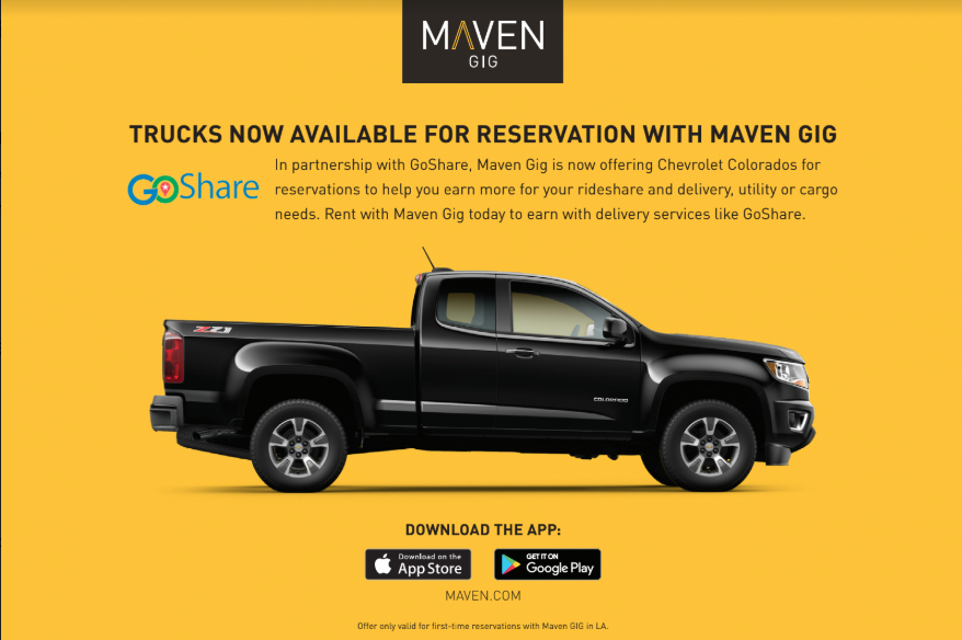 GoShare and Maven Partnership