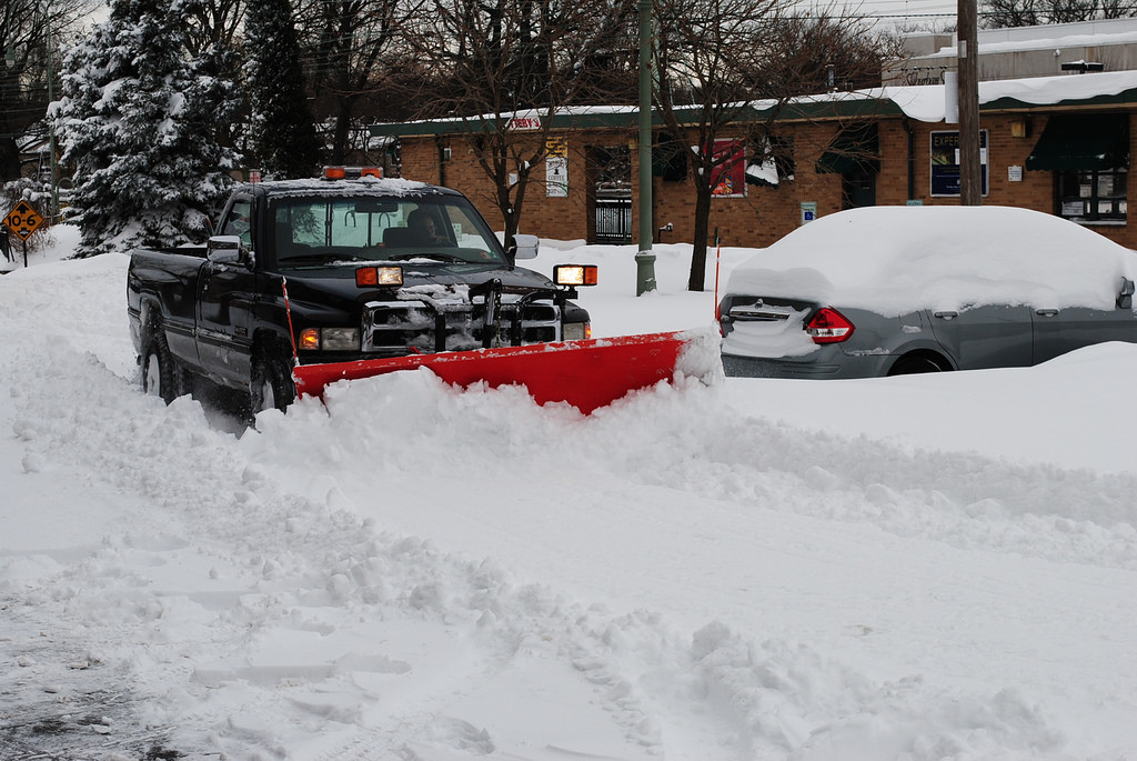 Plowing the Ardmore station parking lot