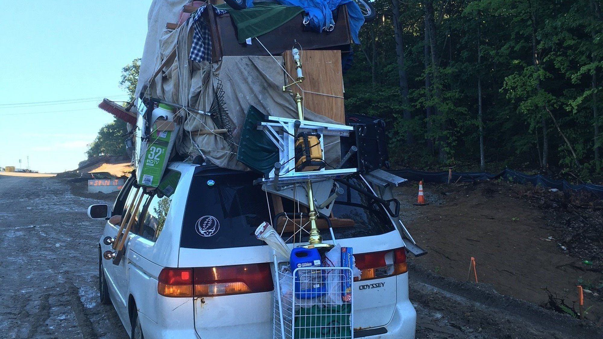 Overloaded Roof Rack