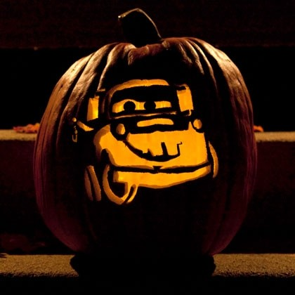 Disney Pixar Tow Mater Pumpkin Pattern and Stencil