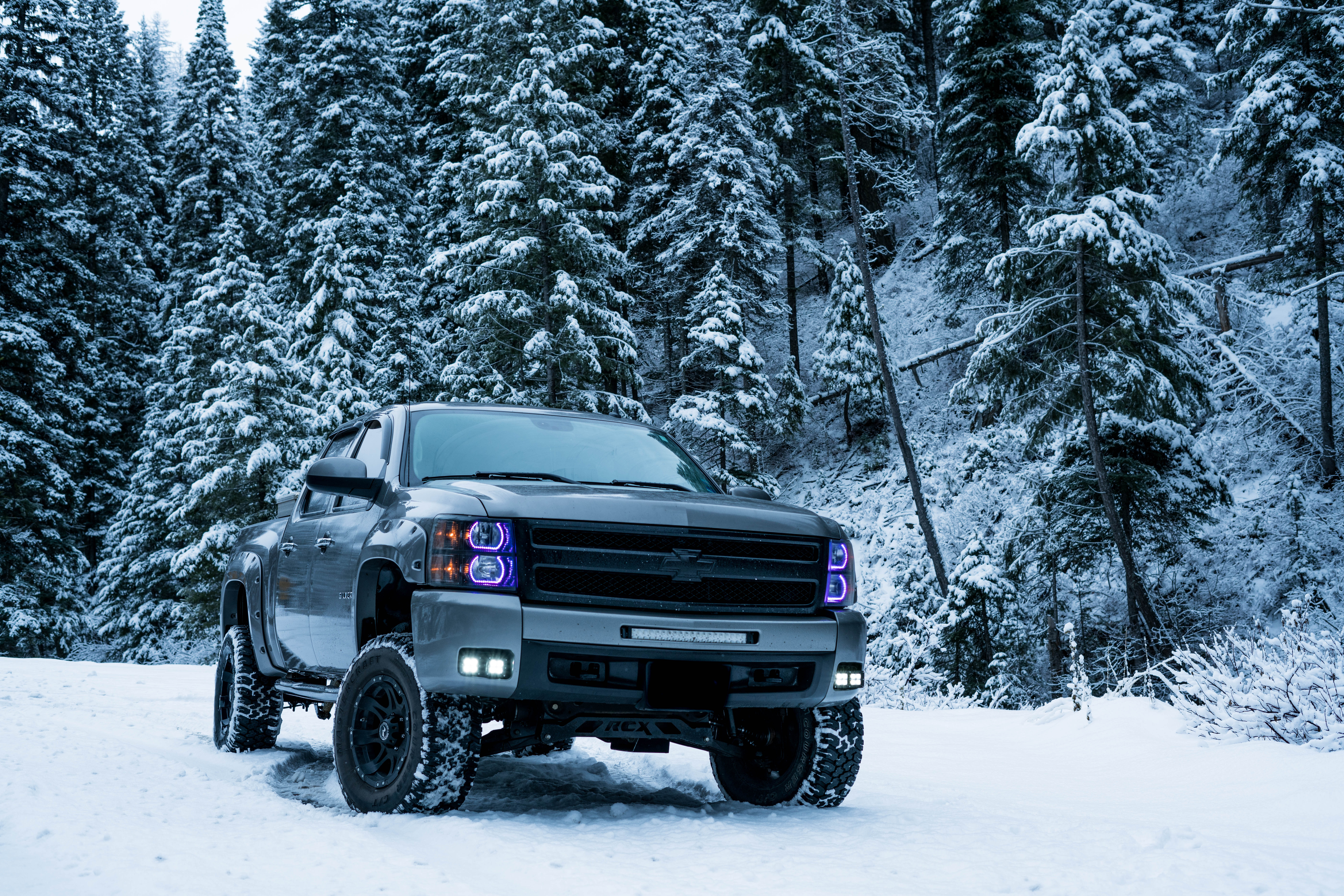 Pickup Truck in the Snow