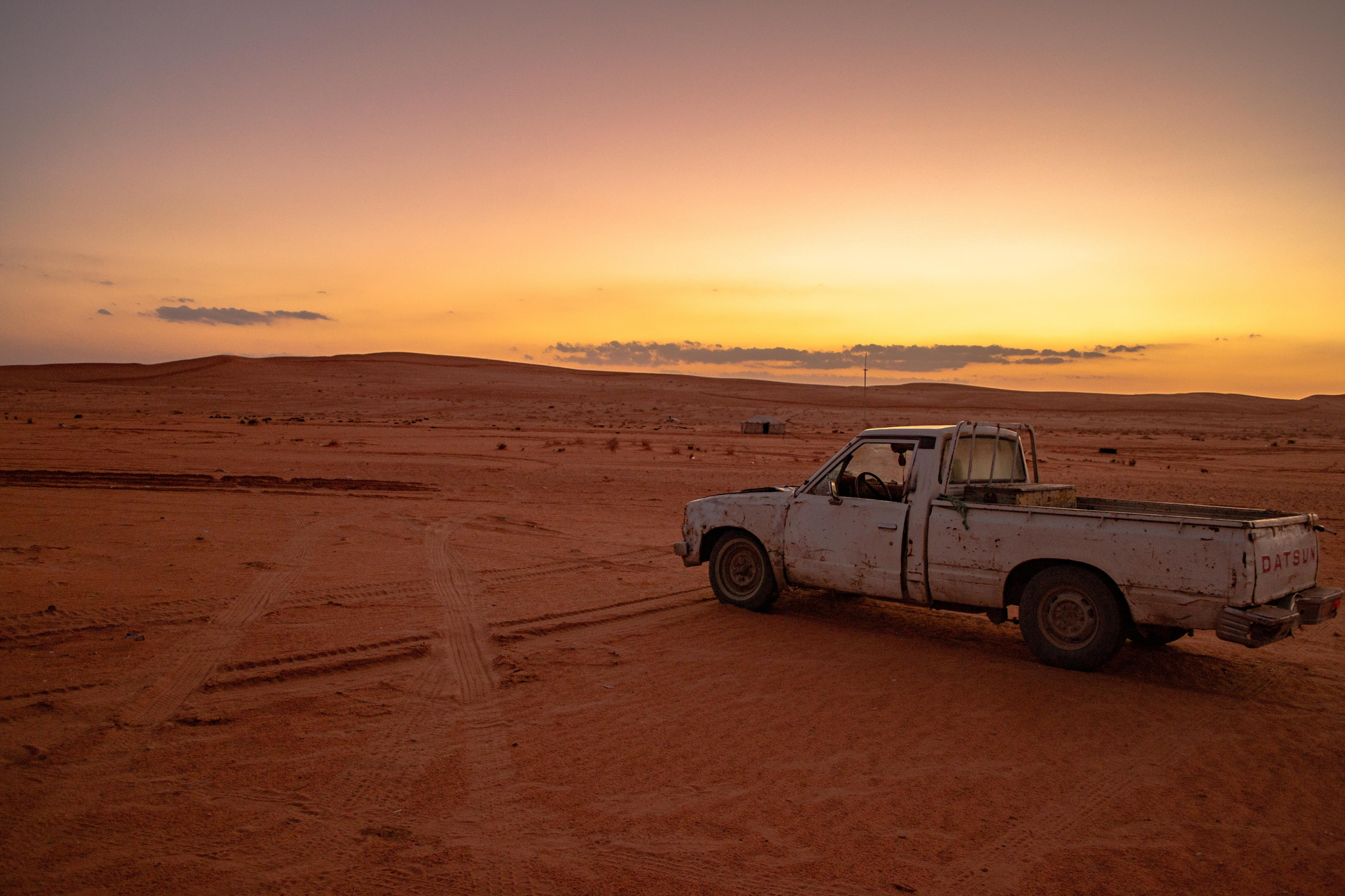 Pickup Truck in the Desert