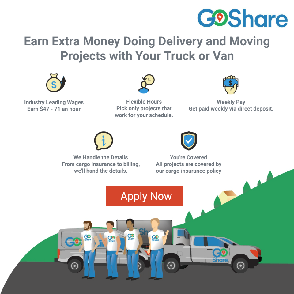 Earn Money Driving Your Vehicle with GoShare