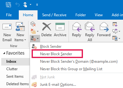 outlook example