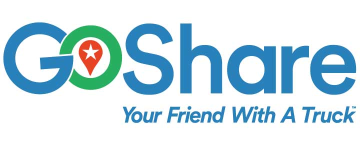 GoShare Logo with Tagline, Your Friend With A Truck
