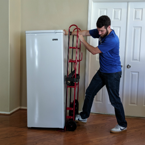Delivery Professional Tilting Back Freezer to Slide Appliance Dolly Underneath
