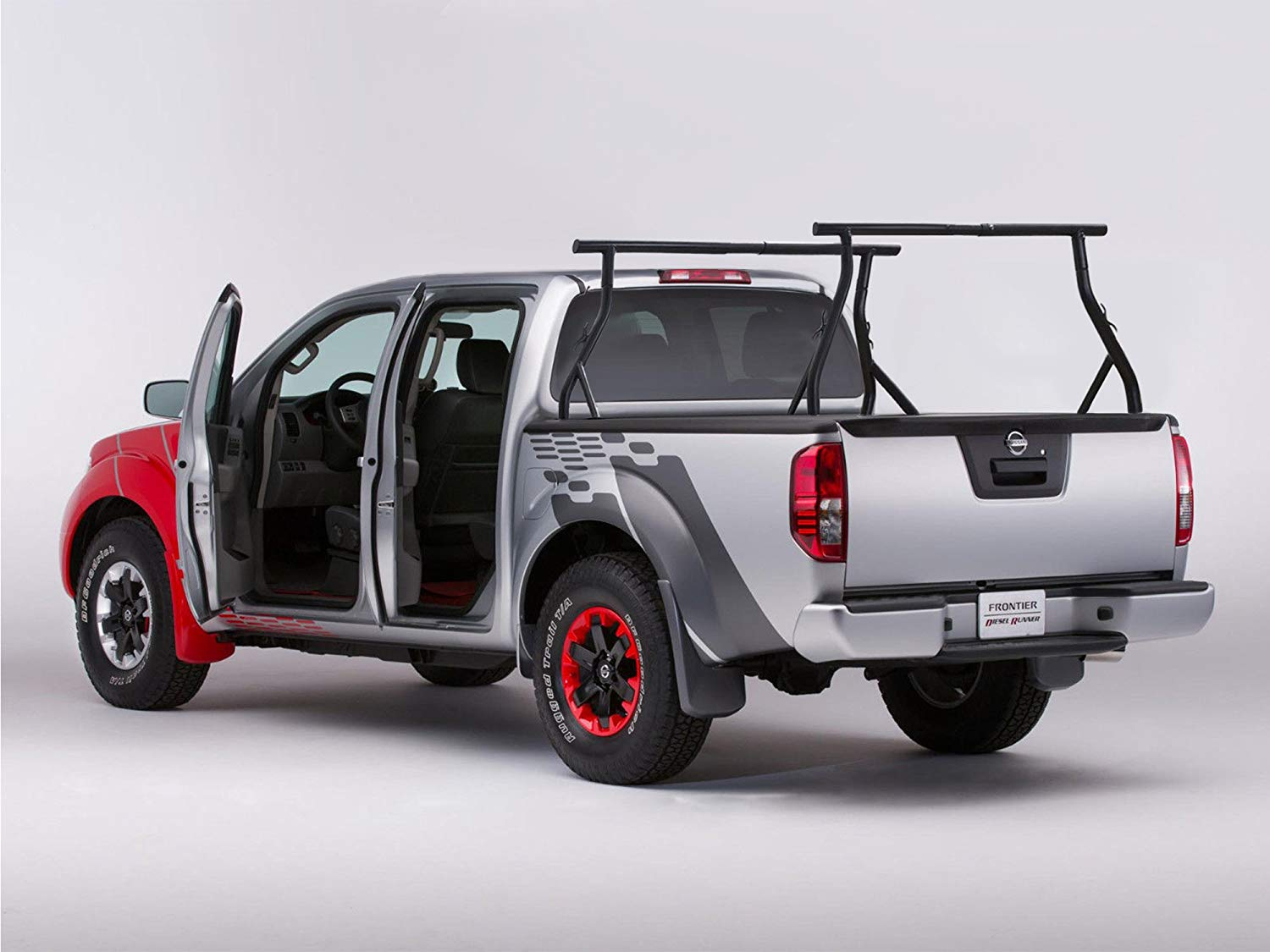 Truck with a Bed Rack Installed