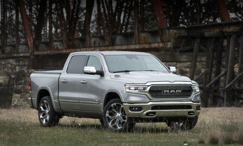 2020 Ram Truck Silver on Dirt Road