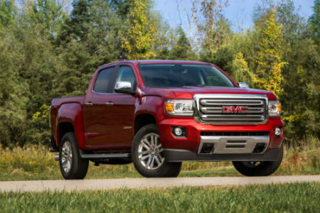2020 GMC Canyon Red on Country Road