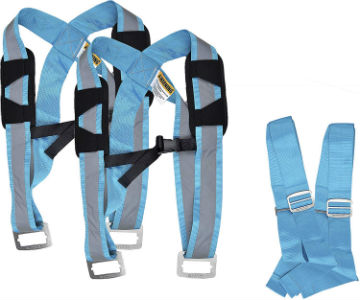 Quantum Genius Furniture Moving Straps - Heavy Duty Appliance Lifting Straps & Shoulder Dolly Harness for Movers