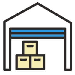 Distribution Center Support Icon