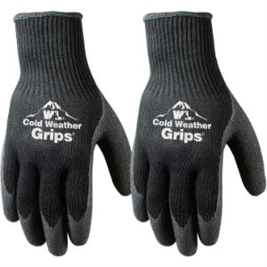 Cold Weather Work Gloves on White background