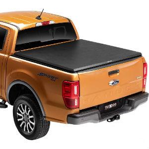 Truck Mod Tonneau Cover on Orange Truck